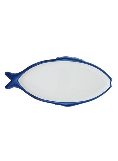 Warm Design Emaye Balık Tepsisi Mavi